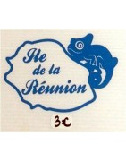 Stickers Reunion - Colis letchis reunion