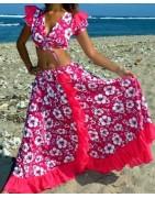 Robe sega Femme, ensemble sega maloya, Textile Réunion - Colis letchis reunion