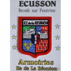 Ecusson blason reunion rouge