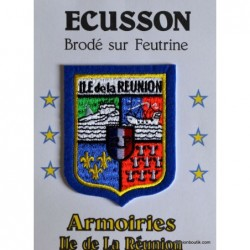 Ecusson blason reunion bleu