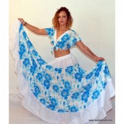 Robe sega pro Tropical bleu...
