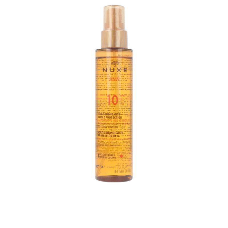 NUXE SUN huile bronzante visage et corps SPF10 spray 150 ml
