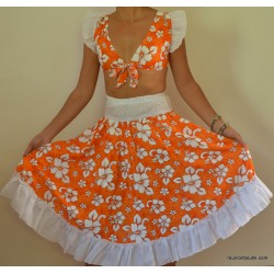 Robe sega maloya Orange XXL