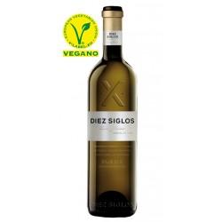 Vino Blanco Diez Siglos VerdejoEl Vino Blanco Diez Siglos Verdejo esta elaborado con uva 100 de verdejo y pertenece a la DO Rue