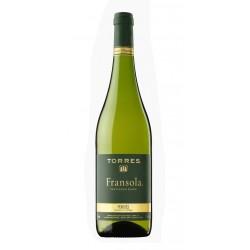 VINO BLANCO FRANSOLAForma parte de la DO PenedesRealizado a partir de una mezcla de variedades como sauvignon Blanc y parellada