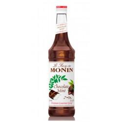 Sirope Monin Chocolate Menta El Sirope Monin Chocolate Menta mezcla los sabores del exquisito chocolate y la refrescante menta
