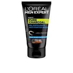 MEN EXPERT pure charcoal gel exfoliante p.negros 100 ml