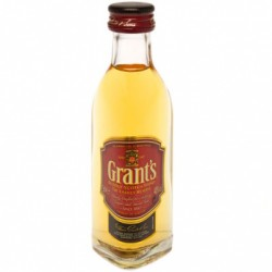 WHISKY ESCOCES GRANTS MINIATURA 5CL CAJA DE 196 UNIDADESGrant s es un blended whisky escoces elaborado por William Grant Sons L
