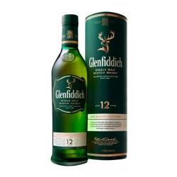 WHISKY GLENFIDDICH DE MALTA MINIATURA 5CL CON TUBO Whisky Glenfiddich madurado con extremo cuidado en barricas de bourbon ameri