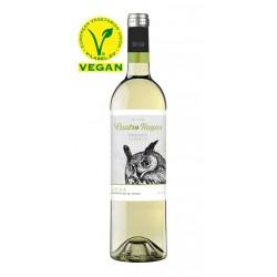 El Vino Blanco Cuatro Rayas Verdejo Ecologico Veganoelaborado con uva de la variedad 100 Verdejo perteneciente a la DO Rueda la
