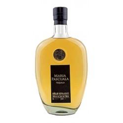 Tequila Maria Pascuala Anejo envejecido durante 16 meses en barricas de roble frances Es un tequila elegante y complejo con un