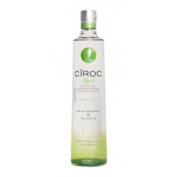 Vodka Ciroc Apple es un vodka Ultra Premium elaborado mediante cinco destilaciones con manzanas verdes y otros ingredientes nat