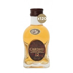 Whisky de un espirituoso intachable Nota de cata de Miniatura Whisky Cardhu 120 Unidades Color Presenta un color oro miel  Olor