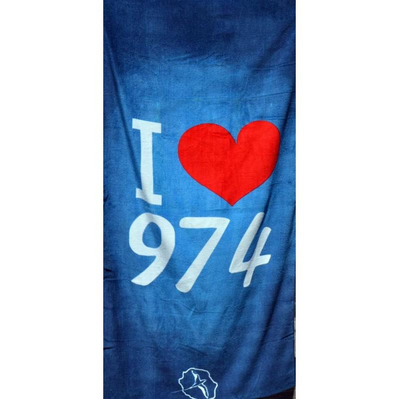 Serviette De Bain Abercrombie.Serviette De Plage La Reunion I Love 974 Produit Reunion 974